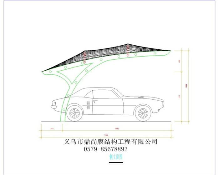 7字钢结构汽车棚